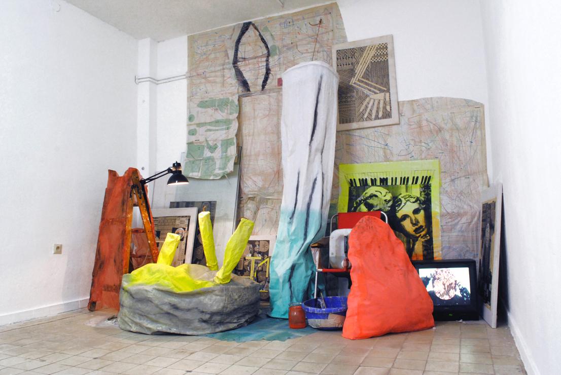 Ausstellungsansicht Ulrika Segerberg stay hungry Berlin project space
